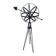 Rome Sphere With Hairpin Base, Black