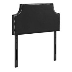 Modway Laura Faux Leather Upholstered Twin Headboard In Black