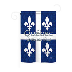 Canada Provinces Quebec 2-Sided Impression Garden Flag