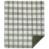 "Denali Tartan Plaid Sterling/Sage Microplush Blanket, 60""x72"""