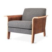 Gus Modern Lodge Chair, Varsity Charcoal