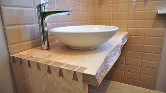 Столы для ванной из массива ясеня