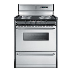 "Summit 30"" Electric Pro Style Range, Stainless Steel"