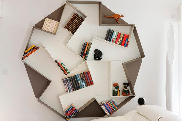 Libreria alveare. libreria pensile a giorno laccata demie di ozzio
