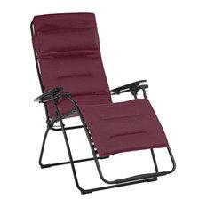 Lafuma Futura XL Air Comfort Zero Gravity Reclining Chair, Bordeaux Red