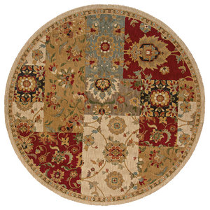 7cab37e7d4b51 Oriental Weavers Infinity 1128A Beige/Red Floral Area Rug, 7'8