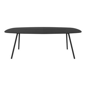 Medium A-Lowha Long Board Table, Black, Black Frame