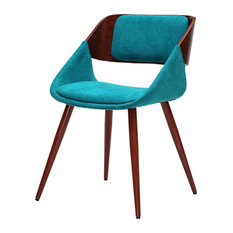 Cyprus Fabric Chair Santorini Teal Green by New Pacific Direct Inc.
