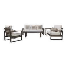 Tanglewood 5-Piece Patio Seating Group With Cushions, Cast Silver