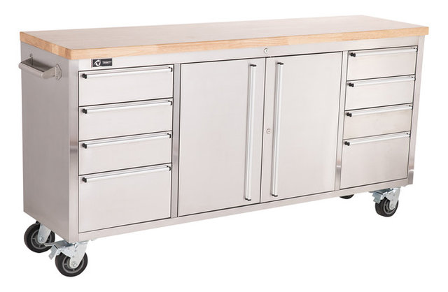 Trinity Stainless Steel  Rolling Workbench