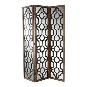 Wood Mirror Screen