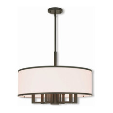 6 + 1-Light Bronze Pendant Chandelier