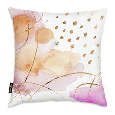 """Oliver Gal """"Rain or Shine Gold"""" Pillow, 18""""x18"""""""