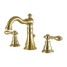 "Fauceture 8"" Widespread Lavatory Faucet, Satin Brass"