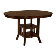 Ashley Furniture Homestore   Renaburg Oval Counter Extension Table, Medium  Brown   Indoor Pub And