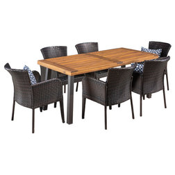 Tropical Outdoor Dining Sets by GDFStudio