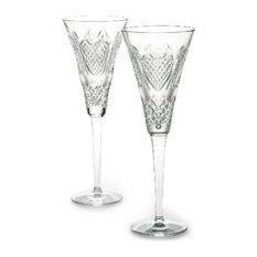 Waterford - Waterford Crystal Wedding Heirloom Flute Pair - Wine Glasses