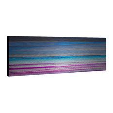 """Paralepa"" Painting Print on Brushed Aluminum, 45""x15"""