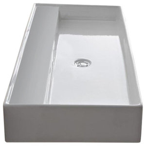 30 Quot Vallum Concrete Sink Contemporary Bathroom Sinks