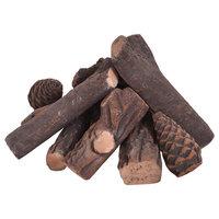 Costway 9PCS Ceramic Wood Gas Log Set Fireplace Imitation Wood Propane Logs