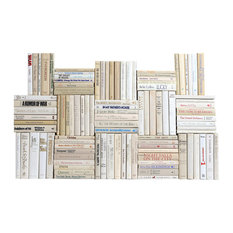 Retro Neutral Book Wall, Set of 100