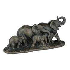 Sculpture Statue Running Elephants Elephant
