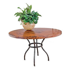 """Woodland Dining Table With 48"""" Round Copper Top"""
