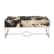 Classy Stainless Steel Leather Bench