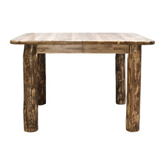 Glacier Country Collection 4 Post Dining Table With Two 18-inch Leaves