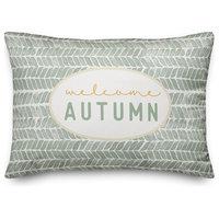 "Welcome Autumn 14""x20"" Throw Pillow"