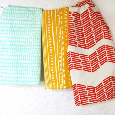 Modern Dish Towels by Leah Duncan