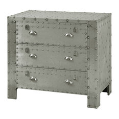 Aluminum And Chrome Based Industrial 3-Drawer Chest
