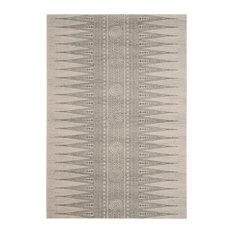 "Studio Seven Evoke Rug, Ivory/Silver, 6'7""x9'"
