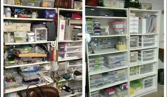 Before/After Craft room supplies
