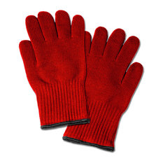 Imperial Home - 2 Extra Thick Oven Gloves, Heat Resistant Oven Mitt or Pot Holders, Red Mitts - Oven Mitts and Pot Holders