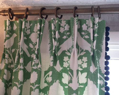 Green and White Panels - Curtains