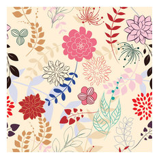 Floral Melange Shelf Paper Drawer Liner, 36x12, Laminated Vinyl