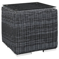 Knox Outdoor Patio Glass Top Side Table WL-01248-MW, Side Table