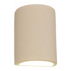 Evans Half Cylinder Indoor Wall Light, Bisque Gray