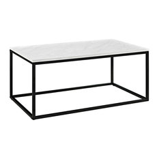 """Walker Edison C42LWSQMB 42"""" Mixed Material Coffee Table - Marble"""