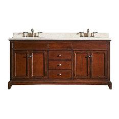 """Eviva Elite Stamford 60"""" Brown Vanity With Top and Sink"""