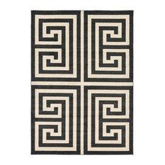 Unique Loom Black Athens Greek Key 7' 0 x 10' 0 Area Rug