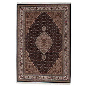 Indo Tabriz Oriental Rug, India Hand-Knotted, 200x140 cm