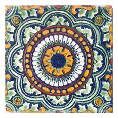 "4""x4"" Mexican Ceramic Handmade Tile #C035"