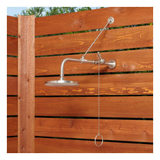 Signature Hardware 401595 Stainless Steel Outdoor Shower Trim with Single Funct