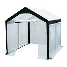 Abba Patio 6'x8' Large Walk-In, Fully Enclosed, Greenhouse With Windows, White