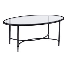Quinton Oval Cocktail Table - Black