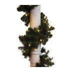LED Garland With Concave Lights, Warm White, 9
