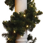 Brite Ideas Decorating   LED Garland With Concave Lights, Warm White, 9u0027