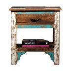 Rustic Distressed Reclaimed Wood Nightstand